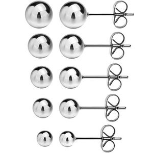 Jewelry - 316L Surgical Stainless Steel Earrings Round Ball